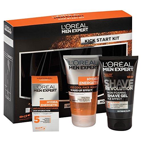 L'Oreal Men Expert Hydra Energetic Kick Start Kit Gift Set: Amazon ...