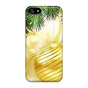 Bright Gold For Christmas Case Compatible With Iphone 5/5s/ Hot Protection Case