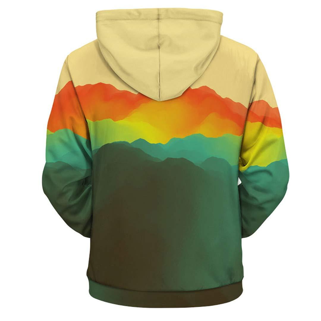 Zipper Hoodies for Unisex Hooded Hoodies Color Paint Print 3D Sweatshirts