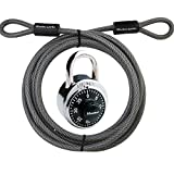 Master Lock Cable, Steel Cable with Looped Ends, 15 ft. Long, 72DPF and Includes a Master Lock (1500D)
