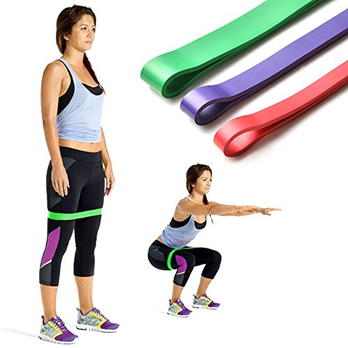 Set of 3 Heavy Duty Resistance Band Loop Exercise Yoga Workout Power Gym Fitness by SuccessfulDealsStore