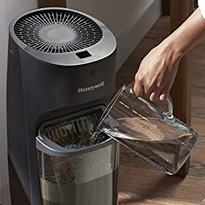 Honeywell Top Fill Tower Humidifier with Digital Humidistat, Black