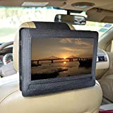 Car Headrest Mount Holder for DBPOWER 10.5'' Portable DVD Player with Swivel and Flip Screen and Fits Other 10-10.5'' Swivel Screen Portable DVD Player - Black