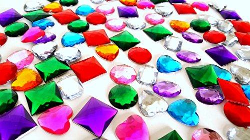 "Dondor Self Adhesive Craft Jewels, 1"" Inch Size (100 Piece Set)"
