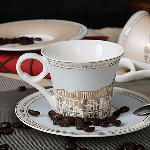 Fire Saucer (SFSYDDY-Continental Fine Bone China Coffee Cup Set Buckingham Palace The Fire Suit)