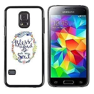 TopCaseStore / la caja del caucho duro de la cubierta de protección de la piel - You God Minimalist White Text - Samsung Galaxy S5 Mini, SM-G800, NOT S5 REGULAR!