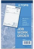 TOPS 2-Part Carbon Job Work Order Forms, 5.5 x 8.38 Inches, 50 Sheets per Pack, White and Manila, (3467)