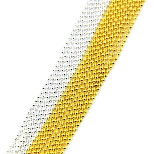 Polytree 2pcs 3m Nail Art Metal Glitter Ball Beads Chain Lin