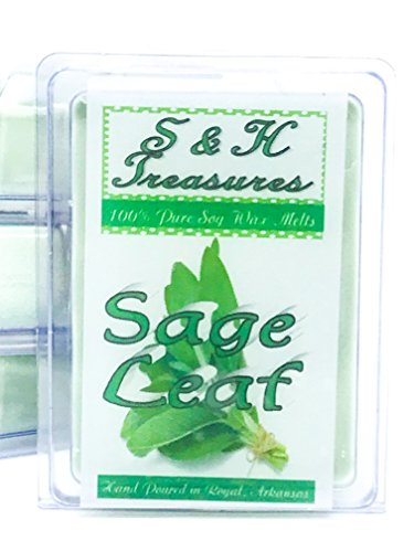 Sage Leaf - Pure Soy Wax Melts - Fresh Scents - 1 pack (6 cubes)