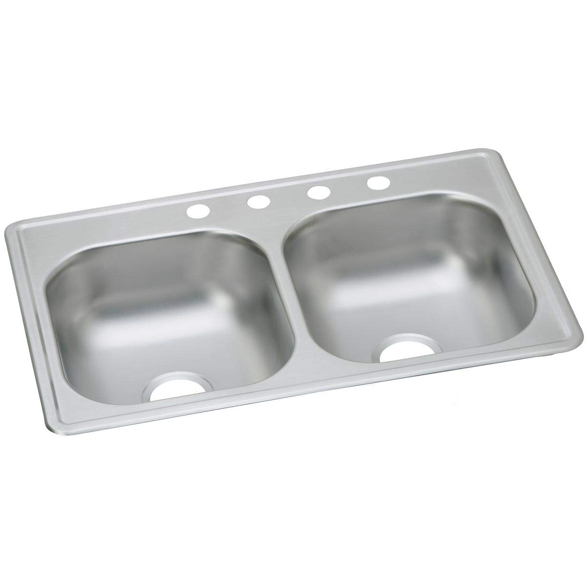 Dayton DSE233194 Equal Double Bowl Drop-in Stainless Steel Sink