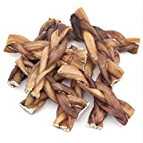 GigaBite by Best Pet Supplies - USDA & FDA Certified Odor-Free Braided Bully Sticks - 6-Inch, 10 pcs/pack