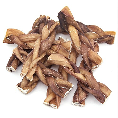 GigaBite 6 Inch Odor-Free Braided Bully Sticks (10 Pack) – USDA & FDA Certified All Natural, Free Range Beef Pizzle Dog Treat – By Best Pet Supplies