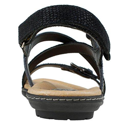 Earth Sandy Strappy Black Sandal Women's vXvnOxR1