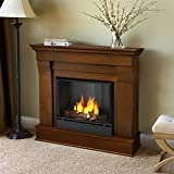 Real Flame Chateau Ventless Gel Fireplace in Espresso Finish For Sale