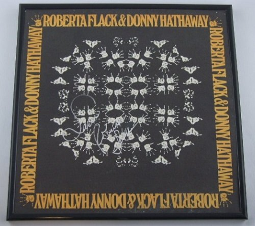 Roberta Flack & Donny Hathaway Robert Flack Signed Autographed Lp Record Album with Vinyl Framed Loa by Star...