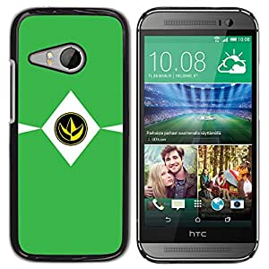 HTC ONE MINI 2 / M8 MINI , Radio-Star - Cáscara Funda Case Caso De Plástico (Green Minimalist Sign)