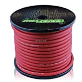 4 gauge alternator wire - Mechman RED 4 AWG Gauge OFC Oxygen-Free Copper 100' Car Audio/Racing Wire/Cable