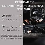 PROHEAR 036 [Mise à Niveau] Casque Anti Bruit de Tir Electronique Silicone Coussinets d'oreille Remplaçable,SNR 28dB… 9