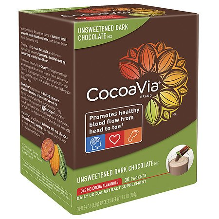 (CocoaVia Daily Cocoa Extract Supplement Unsweetened Dark Chocolate - 3PC )