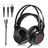 51QlDxgH4DL. SL160  - Gaming Headset, RedHoney Stereo PS4 LED Gaming Headphone With Microphone for PS4 PSP Xbox one PC Tablet iPhone iPad Samsung Smartphone