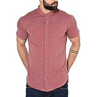 GRITSTONES Men's Plain Regular Fit Casual Shirt (GSHSSHT1643LGRN_Light Green_Small)