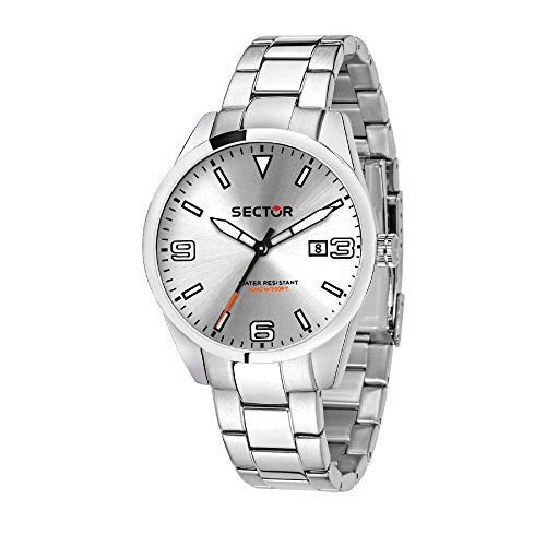 SECTOR Men's '245' Quartz Stainless Steel Casual Watch, Color Silver-Toned (Model: R3253486008)