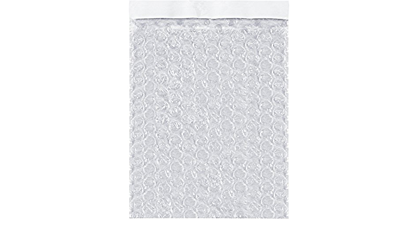BOX USA BBOB78 Self-Seal Bubble Pouches 7 x 8 1//2 Pack of 550 Clear