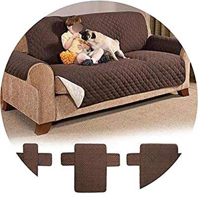 Little Happiness- Waterproof Quilted Sofa Covers for Dogs Pets Kids Anti-Slip Couch Recliner Slipcovers Armchair Furniture Protector 1/2/3 Seater