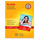 "Kodak Premium Photo Paper for inkjet printers, Gloss Finish, 8.5 mil thickness, 50 Sheets, 8.5"" x 11"" (8360513)"