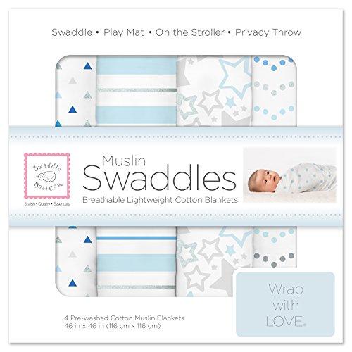 SwaddleDesigns Swaddle Blankets Starshine Shimmer