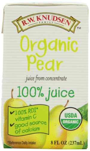 R.W. Knudsen Organic Pear Juice, 8-Ounce Boxes (Pack of 27)