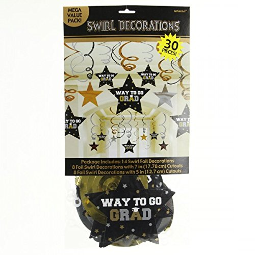 Grad Mega Value Pack Swirl Decoration Set | Party Favor
