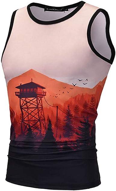 Star-bw Camisetas de Tirantes Hombre 3D Bosque de montaña Sin Mangas Camisa Deportes Gimnasio: Amazon.es: Ropa y accesorios
