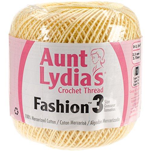 ydia's Fashion Crochet, Cotton Size 3, Maize (Yellow Cotton Crochet Thread)