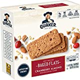 Quaker Baked Flats, Cranberry Almond, 5-3 Bar Packs