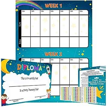 Amazon Com Potty Training Reward Chart Multicolored Star