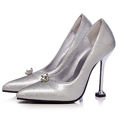 Scarpe Silver Elegante Shoes Cherry Tacco Donna Night Alto xqcA1zTZ