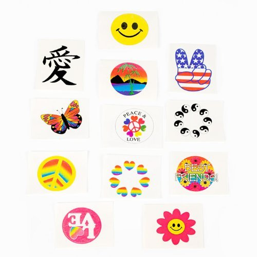 Fun Express Glow in the Dark Temporary Tattoos - 72 Pieces]()