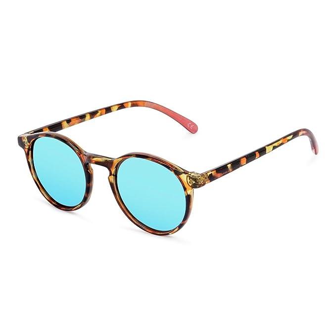 CORAL Sunglasses CARMEL - Gafas de sol carey y lentes espejo ezul eléctrico polarizadas.: Amazon.es: Ropa y accesorios