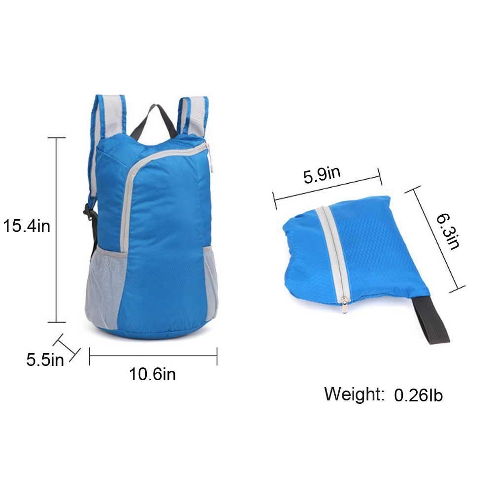 Ioutfit Foldable Backpack Lightweight Waterproof Travel Packable Hiking Daypack