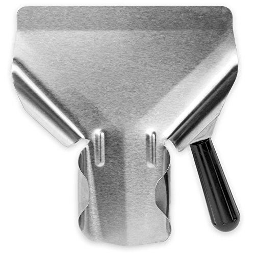 Stainless Steel Popcorn Scoop – Easy Fill Tool for Bags & Boxes, Great Utility Serving Scooper for Snacks, Desserts, Ice, & Dry Goods by Back of House Ltd. by Back of House Ltd.