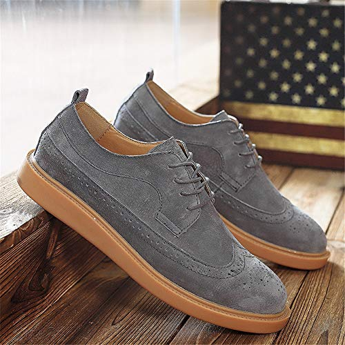 0b5dfef5289a Hilotu Men's Business Oxford Shoes British Style Carved Brogue Shoes ...