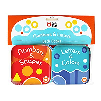 Baby Bath Books, Pack of 2 by Baby Bibi. Alphabet & Numbers Books. Safe, Waterproof and BPA-free. 3.5