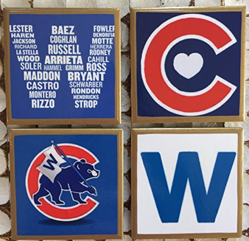 Coasters! Fly the W set of coasters with gold ()