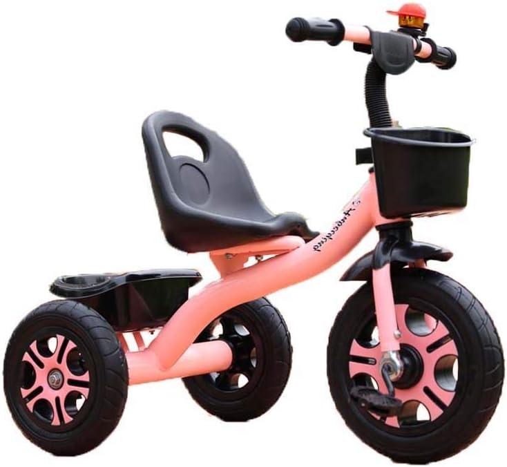 Bicicleta triciclo for niños 1-3-2-6 años Bicicleta grande for bebés Bicicleta for niños pequeños Carro de bebé for niños (Color : Pink)