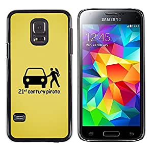 LECELL--Funda protectora / Cubierta / Piel For Samsung Galaxy S5 Mini, SM-G800, NOT S5 REGULAR! -- Pirate Figurine Black Art --