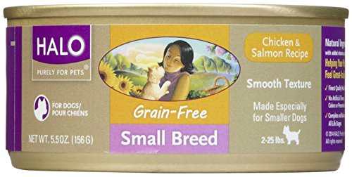 Halo Spot's Choice Small Breed Adult - Grain Free Chicken & Salmon - 12x5.5oz