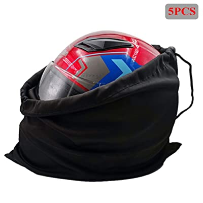 Motorcycle Helmet Bag Welding Mask Hood Storage carrying Bag for Riding Bicycle Sports Universal Tool Made of Nylon Cloth with Locking Drawstring (Black 5pcs): Automotive