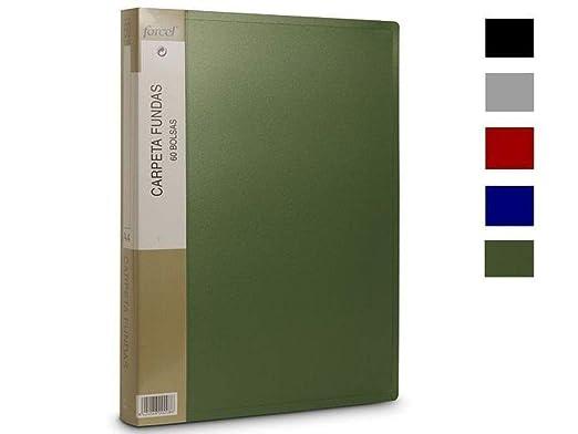 Dex 0208 - Carpeta Fundas 60 Bolsas,1 Articulo, Colores Surtidos: Amazon.es: Oficina y papelería
