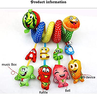 MAJINCGJ Newborn Baby Toy Crib Trailer Hanging Bed Around Baby Fabric Toy Bed Hanging Plush Fabric Rattle Toy : Baby